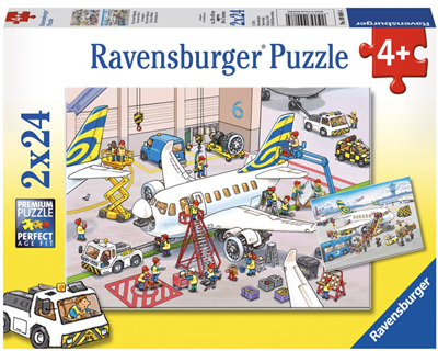 Ravensburger 2 x 24 Piece Jigsaw Puzzles: Around The Airplane