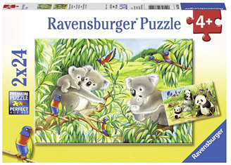 Ravensburger 2 x 24 Piece Jigsaw Puzzle: Koala's And Panda's