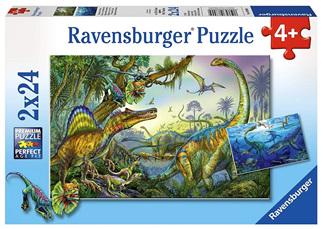 Ravensburger 2 x 24 Piece Jigsaw Puzzle: Prehistoric Giants