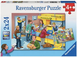 Ravensburger 2 x 24 Piece Jigsaw Puzzles: The Busy Post Office