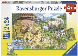 Ravensburger 2 x 24 Piece Jigsaw Puzzles: Country Animal Families