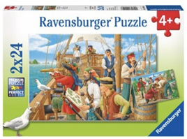Ravensburger 2 x 24 Piece Jigsaw Puzzles: With The Pirates