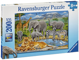 Ravensburger 200 Piece  Jigsaw Puzzle: Animals In Africa