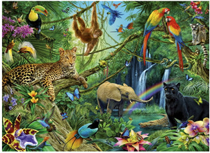 Ravensburger 200 Piece  Jigsaw Puzzle: Animals In The Jungle