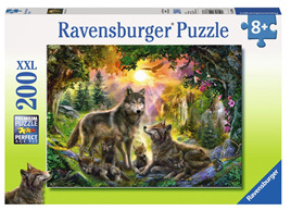 Ravensburger 200XXL Piece  Jigsaw Puzzle: Wolf Family In The Sun