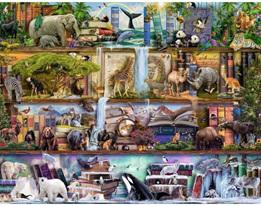 Ravensburger 2000 Piece  Jigsaw Puzzle: Wild Kingdom Shelves