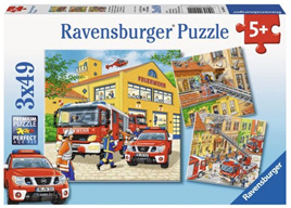 Ravensburger 3 x 49 Piece  Jigsaw Puzzle: Fire Brigade Run
