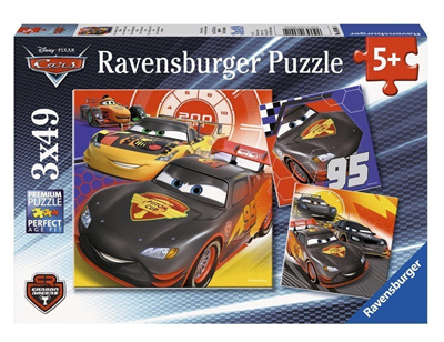 Ravensburger 3 x 49 Piece Jigsaw Puzzle: Cars Road Adventure