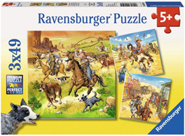 Ravensburger 3 x 49 Piece Jigsaw Puzzles: In The Wild West