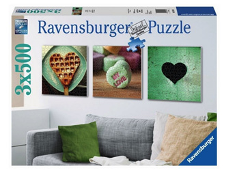 Ravensburger  3 x 500 Piece  Jigsaw Puzzle: Impressions Of Love