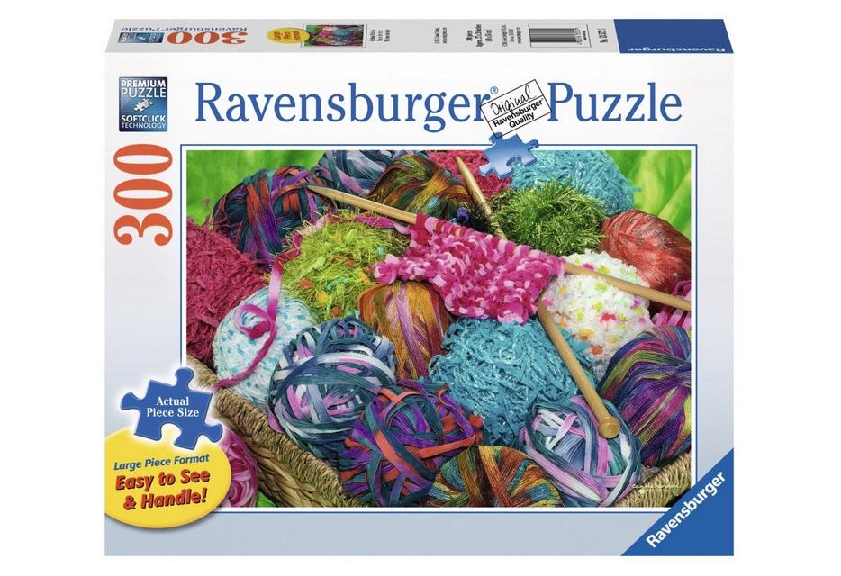 Ravensburger 300 Piece Large FormatJigsaw Puzzle: Knitting Notions