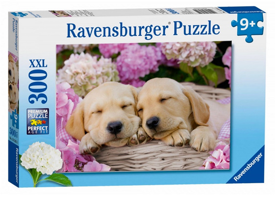 Ravensburger 300 Piece Puzzle Sweet Dogs In A Basket buy at www.puzzlesnz.co.nz