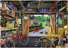 Ravensburger 300XL Piece Large Format  Jigsaw Puzzle: Grandpa's Garage