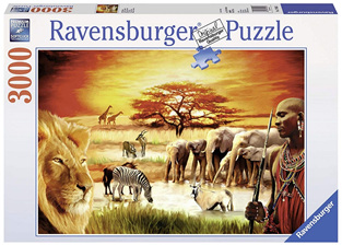 Ravensburger 3000 Piece  Jigsaw Puzzle: Savannah Masai
