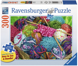 Ravensburger 300XL Piece Large FormatJigsaw Puzzle: Knitting Notions