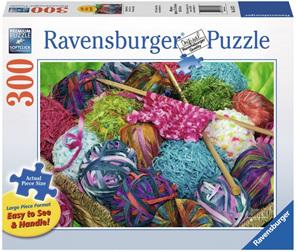 Ravensburger 300XL Piece Large FormatJigsaw Puzzle: Knitting Notions