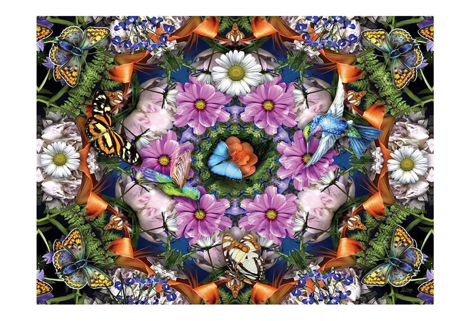 Ravensburger 300 Piece Large Format Jigsaw Puzzle: Flower Kaleidoscope