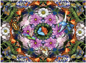 Ravensburger 300XL Piece Large Format  Jigsaw Puzzle: Flower Kaleidoscope