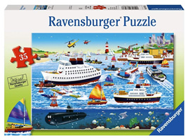 Ravensburger 35 Piece  Jigsaw Puzzle: Happy Harbour