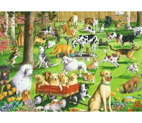 Ravensburger 500 large piece puzzle At the Dog Park at www.puzzlesnz.co.nz