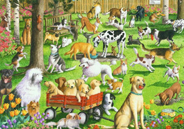 Ravensburger 500 Piece  Large Format Jigsaw Puzzle:  At The Dog Park