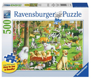 Ravensburger 500XL Piece  Large Format Jigsaw Puzzle:  At The Dog Park