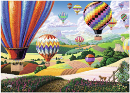 Ravensburger 500XL Piece  Large Format Jigsaw Puzzle:  Brilliant Balloons