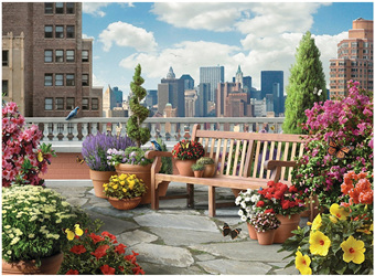 Ravensburger 500XL Piece  Large Format Jigsaw Puzzle:  Rooftop Garden