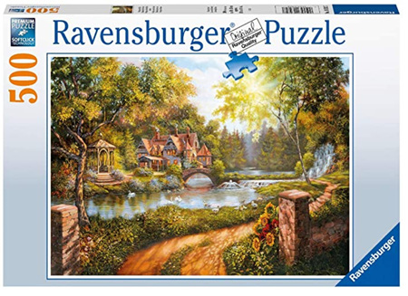Ravensburger 500 Piece Jigsaw Puzzle: Cottage By The River