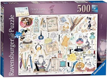 Ravensburger 500 Piece Jigsaw Puzzle: Crazy Cats Alphabet