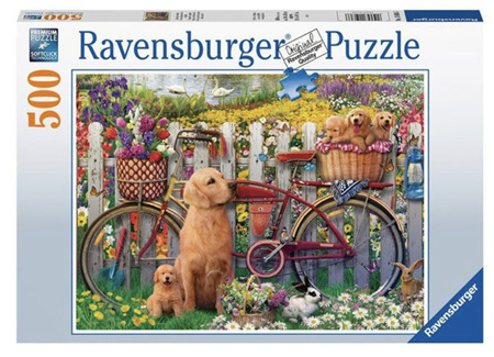 Ravensburger 500 Piece Jigsaw Puzzle: Cute Dogs in the Garden