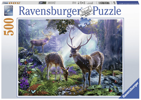 Ravensburger 500 Piece Jigsaw Puzzle: Deer In The Wild