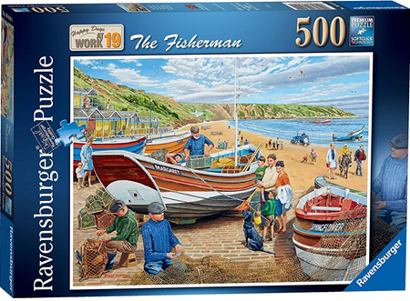 Ravensburger 500 Piece Jigsaw Puzzle: Happy Days At Work -The Fisherman
