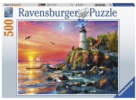 Ravensburger 500 Piece Jigsaw Puzzle: Lighthouse At Sunset