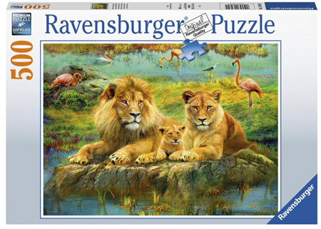 Ravensburger 500 Piece Jigsaw Puzzle: Lions In The Savannah