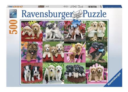 Ravensburger 500 Piece Jigsaw Puzzle: Puppy Pals