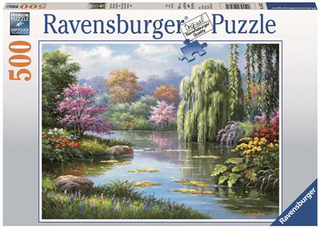 Ravensburger 500 Piece  Jigsaw Puzzle: Romantic Pond