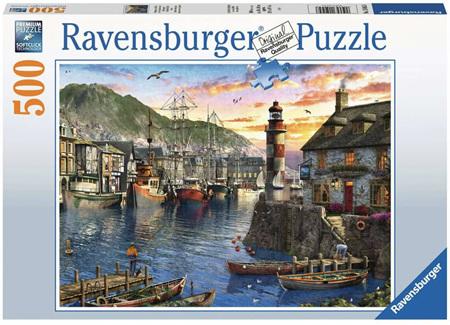 Ravensburger 500 Piece Jigsaw Puzzle: Sunrise At The Port