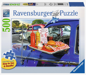 Ravensburger  500XL Piece Large Format  Jigsaw Puzzle: Drive-Thru Route 66