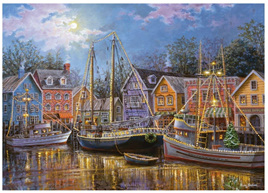 Ravensburger 500XL Piece Large Format  Jigsaw Puzzle: Ships Aglow