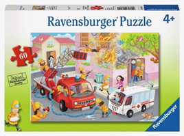 Ravensburger 60 Piece  Jigsaw Puzzle: Firefighter Rescue