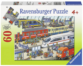 Ravensburger 60 Piece  Jigsaw Puzzle: Railway Station