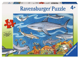 Ravensburger 60 Piece  Jigsaw Puzzle: Sea Of Sharks