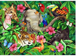 Ravensburger 60 Piece  Puzzle Tropical Friends buy at www.puzzlesnz.co.nz