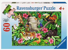 Ravensburger 60 Piece  Jigsaw Puzzle: Tropical Friends