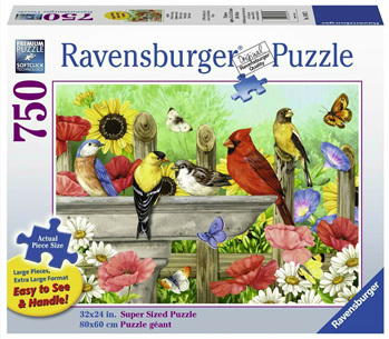Ravensburger 750 Piece  Jigsaw Puzzle: Bathing Birds