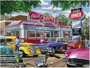 Ravensburger 750 Piece  Jigsaw Puzzle: Meet You At Jacks