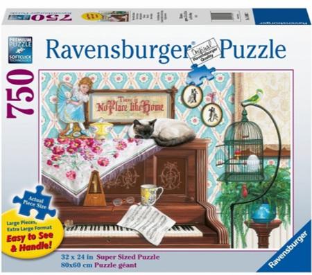 Ravensburger  750 Piece XL Size Jigsaw Puzzle: Piano Cat