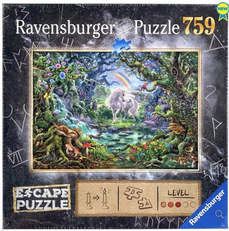 Ravensburger 759 Piece Jigsaw Puzzle: ESCAPE - The Unicorn