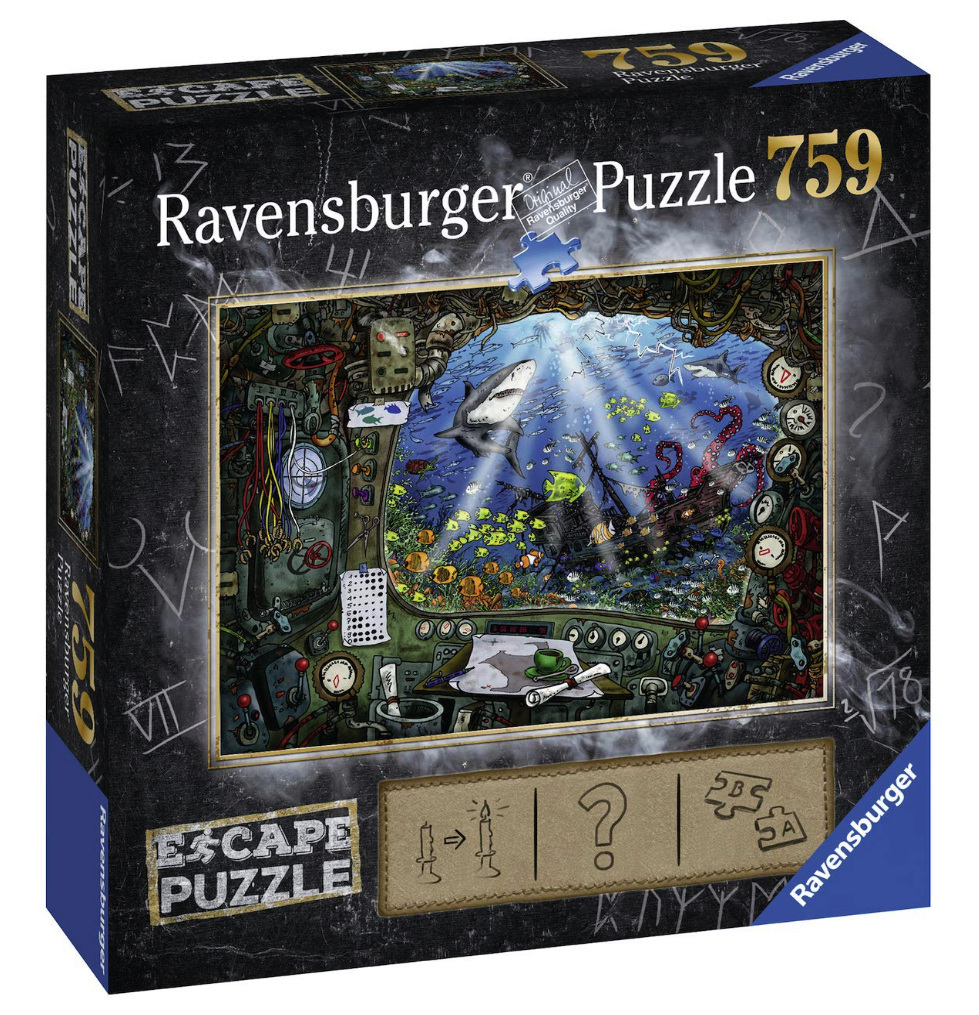 Ravensburger 759 Piece Jigsaw Puzzle: ESCAPE 4 Submarine